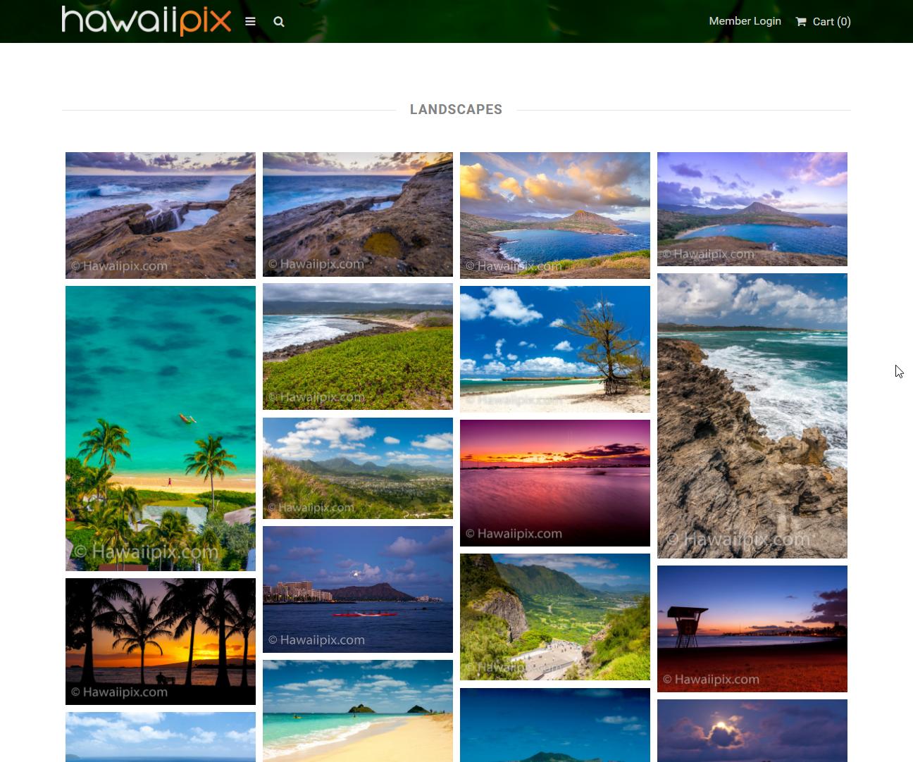 Hawaiipix Image Grid