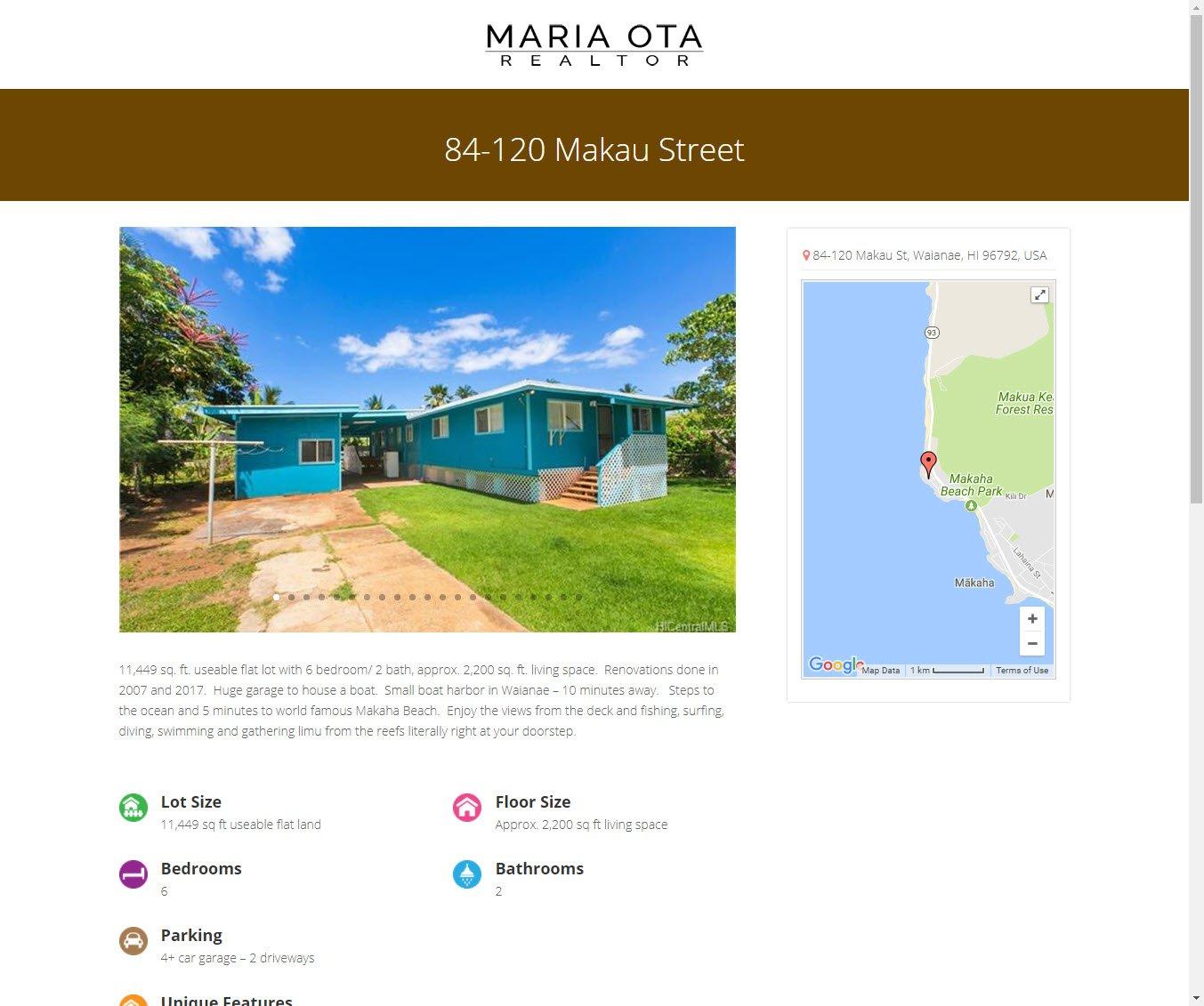 Maria Ota, Realtor