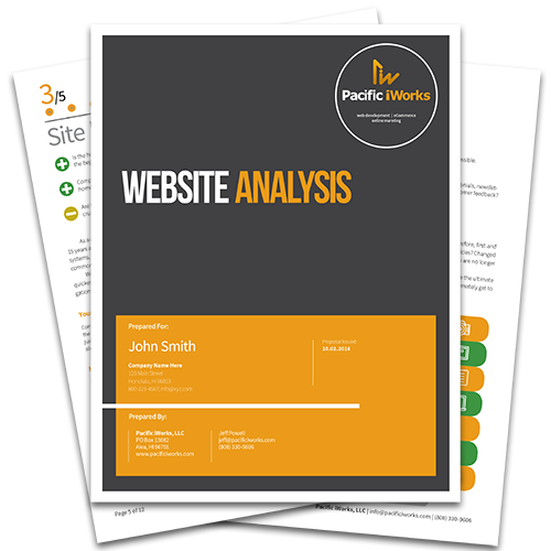 Pacific iWorks Free Website Analysis