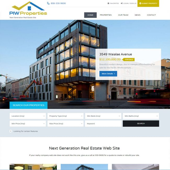 Real Estate Web Site
